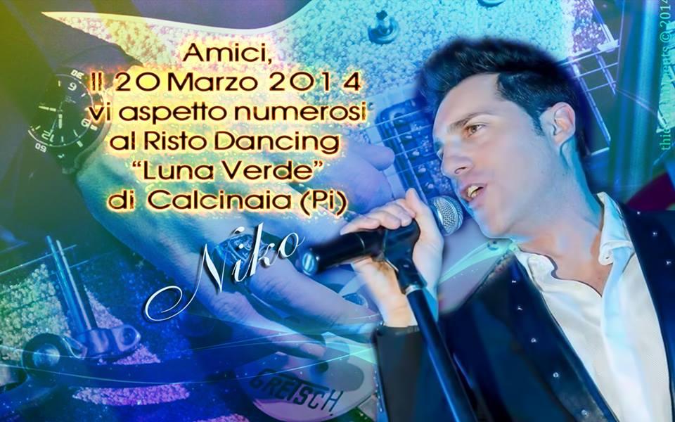 Nicola Congiu il 20 marzo a Calcinaia (Pi) al Risto Dancing Luna Verde
