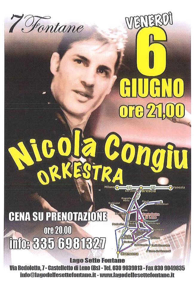 Nicola Congiu Orkestra al Lago delle 7 Fontane 6 giugno 2014 volantino